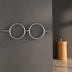 Carisa Roni Brushed Stainless Steel Designer Towel Rail - 1000 x 400mm - Installed