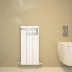 Carisa Elvino Bath White Designer Towel Rail - 370 x 800mm - Installed