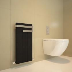 Carisa Elvino Bath Black Designer Towel Rail - 370 x 800mm - Installed