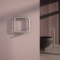 Carisa Baro Brushed Stainless Designer Towel Rail - 500 x 500mm - Installed