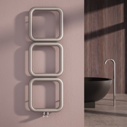 Carisa Baro Brushed Stainless Designer Towel Rail - 500 x 1500mm - Installed