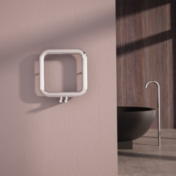 Carisa Baro Polished Stainless Designer Towel Rail - 500 x 500mm