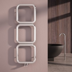 Carisa Baro Polished Stainless Designer Towel Rail - 500 x 1500mm - Installed
