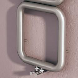 Carisa Baro Brushed Stainless Designer Towel Rail - 500 x 1000mm - Closeup