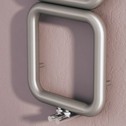 Carisa Baro Brushed Stainless Designer Towel Rail - 500 x 1500mm - Closeup
