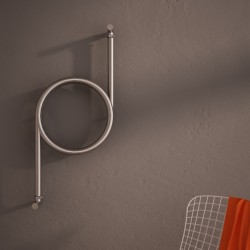 Carisa Crux Brushed Stainless Steel Designer Towel Rail - 400 x 800mm