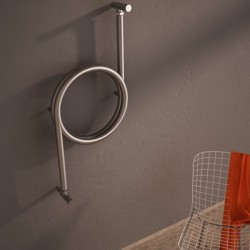Carisa Crux Brushed Stainless Steel Designer Towel Rail - 400 x 800mm - Installed