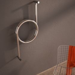 Carisa Crux Polished Stainless Steel Designer Towel Rail - 400 x 800mm - Installed