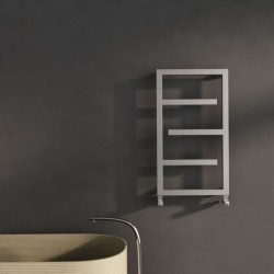 Carisa Eclipse Brushed Stainless Steel Designer Towel Rail - 500 x 880mm