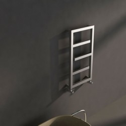 Carisa Eclipse Brushed Stainless Steel Designer Towel Rail - 500 x 880mm - Installed