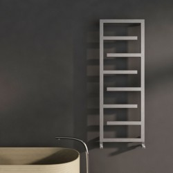 Carisa Eclipse Brushed Stainless Steel Designer Towel Rail - 500 x 1370mm - Installed