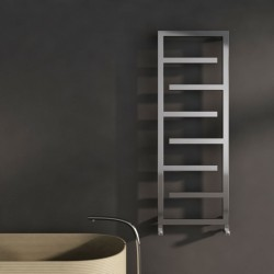 Carisa Eclipse Polished Stainless Steel Designer Towel Rail - 500 x 1370mm - Installed
