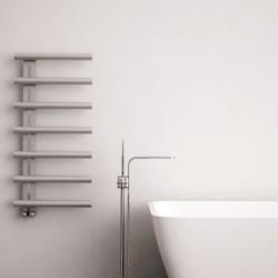 Carisa Ivor Brushed Stainless Steel Designer Towel Rail - 500 x 1000mm