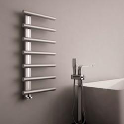 Carisa Ivor Brushed Stainless Steel Designer Towel Rail - 500 x 1000mm - Installed