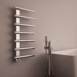 Carisa Ivor Polished Stainless Steel Designer Towel Rail - 500 x 1000mm - Installed