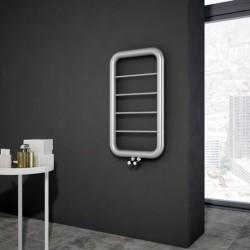 Carisa Paros Brushed Stainless Steel Designer Towel Rail - 500 x 900mm