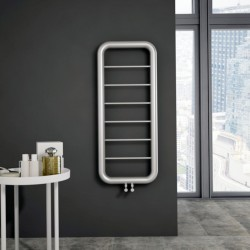 Carisa Paros Brushed Stainless Steel Designer Towel Rail - 500 x 1200m - Installed