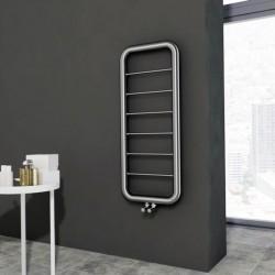 Carisa Aren Brushed Stainless Steel Designer Towel Rail - 500 x 1200mm - Installed
