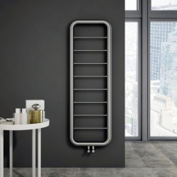 Carisa Aren Brushed Stainless Steel Designer Towel Rail - 500 x 1500mm - Installed