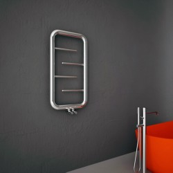 Carisa Aren Polished Stainless Steel Designer Towel Rail - 500 x 900mm - Installed