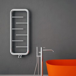 Carisa Aren Polished Stainless Steel Designer Towel Rail - 500 x 1200mm