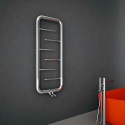 Carisa Aren Polished Stainless Steel Designer Towel Rail - 500 x 1200mm - Installed