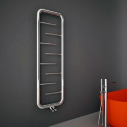 Carisa Aren Polished Stainless Steel Designer Towel Rail - 500 x 1500mm - Installed