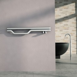 Carisa Redox Brushed Stainless Steel Designer Towel Rail - 1200 x 225mm - Installed