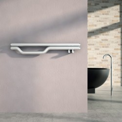 Carisa Redox Polished Stainless Steel Designer Towel Rail - 1200 x 225mm - Installed