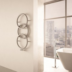 Carisa Halo Brushed Stainless Steel Designer Towel Rail - 400 x 930mm - Installed