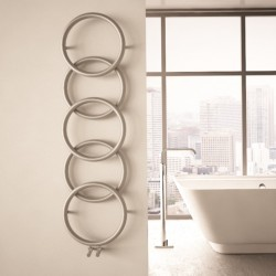 Carisa Halo Brushed Stainless Steel Designer Towel Rail - 400 x 1470mm