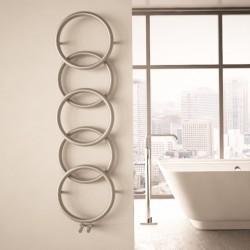 Carisa Halo Brushed Stainless Steel Designer Towel Rail - 400 x 1470mm