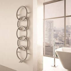 Carisa Halo Brushed Stainless Steel Designer Towel Rail - 400 x 1470mm - Installed