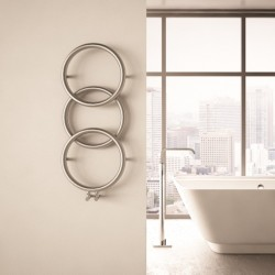Carisa Halo Polished Stainless Steel Designer Towel Rail - 400 x 930mm