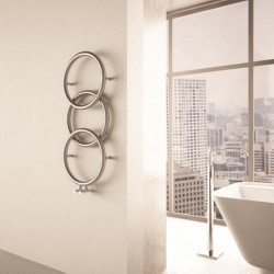 Carisa Halo Polished Stainless Steel Designer Towel Rail - 400 x 930mm - Installed