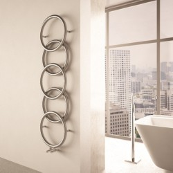 Carisa Halo Polished Stainless Steel Designer Towel Rail - 400 x 1470mm - Installed