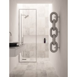 Carisa Link Brushed Stainless Steel Designer Towel Rail - 240 x 1300mm - Installed