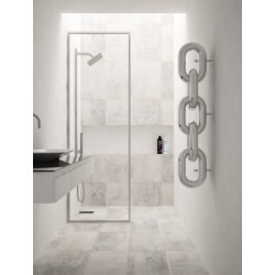 Carisa Link Polished Stainless Steel Designer Towel Rail - 240 x 1300mm - Installed