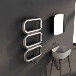 Carisa Talent Brushed Stainless Steel Designer Towel Rail - 500 x 780mm - Installed