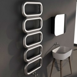Carisa Talent Brushed Stainless Steel Designer Towel Rail - 500 x 1300mm - Installed