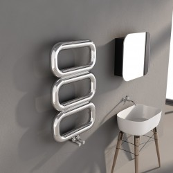 Carisa Talent Polished Stainless Steel Designer Towel Rail - 500 x 780mm - Installed