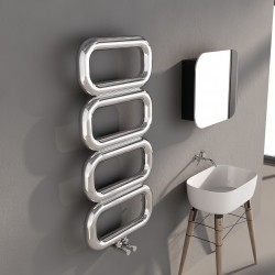 Carisa Talent Polished Stainless Steel Designer Towel Rail - 500 x 1040mm - Installed