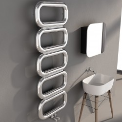 Carisa Talent Polished Stainless Steel Designer Towel Rail - 500 x 1300mm - Installed