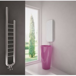 Carisa Jazz Polished Stainless Steel Designer Towel Rail - 240 x 1500mm - Installed