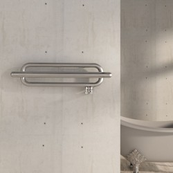 Carisa Swing Brushed Stainless Steel Designer Towel Rail - 1000 x 250mm - Installed