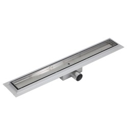 Rectangular Stainless Steel Wet Room Drains - Tile Inlay Design Side View