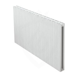 Carisa Monza Double White Aluminium Radiator - 1230 x 600mm