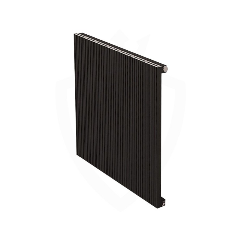 Carisa Monza Black Aluminium Radiator - 660 x 600mm