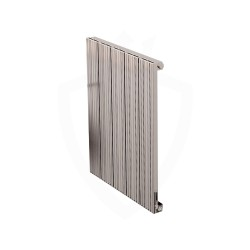 Carisa Monza Polished Aluminium Radiator - 470 x 600mm