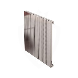 Carisa Monza Polished Aluminium Radiator - 660 x 600mm